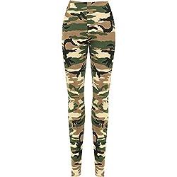 WearAll - Leggings Estampado Camuflaje Talla Grande - Camuflaje - 46-48
