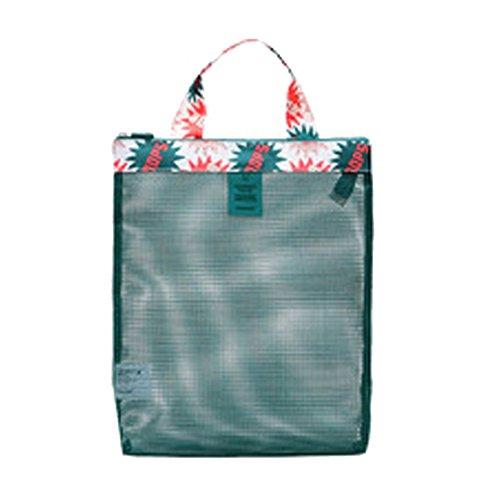 Minetom Unisex damen herren Umhängetasche Totepack Handtasche Tasche Elegant SCHULTERTASCHE mode schwimmen bag Einkaufen Gitter Grün Small (Rucksack Dot Neue Mini)