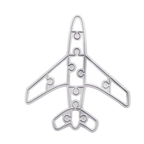 enipate Metall Formen Flugzeug Aircraft Puzzle für Karte Scrapbook Album Papier Craft Embossing Schablonen 11-teiliges (Fall Out Boy Album Vinyl)