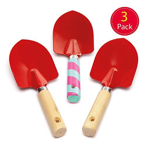 baker ross paletta da giardinaggio (set di 3) - attrezzi da giardino per bambini, da decorare e regalare