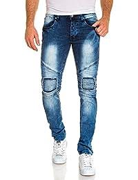 BLZ jeans - Jean homme bleu délavé nervuré tendance