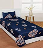 PRIDHI Glace Cotton Single Bedsheet with 1 Pillow cover-Model22