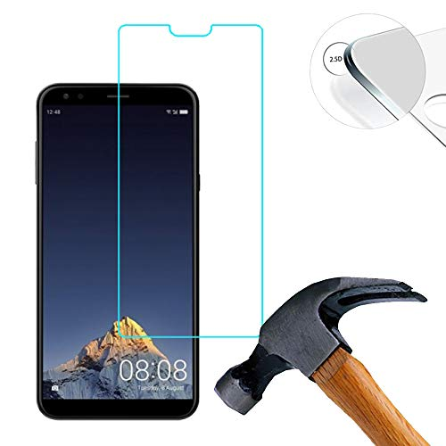 Lusee 2 X Pack Panzerglasfolie für Sharp B10 5.7 Zoll Tempered Glass Hartglas Schutzfolie Folie Bildschirmschutz 9H (Nur den flachen Teil abdecken)