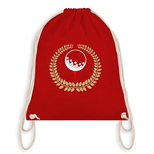 Golf - Lorbeerkanz Golfball Golf-Tee - Unisize - Rot - WM110 - Turnbeutel & Gym Bag