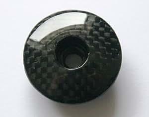Lighter Bikes Capuchon en fibre de carbone 3K avec capuchon 2,5 cm 0,3 cm