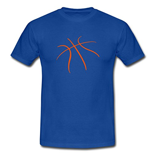 Spreadshirt Basketball Männer T-Shirt, S, Royalblau