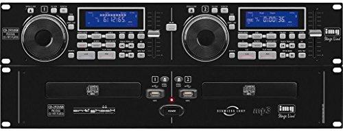 IMG Stageline CD-292USB Professioneller DJ Dual CD und MP3-Spieler 19 Zoll schwarz