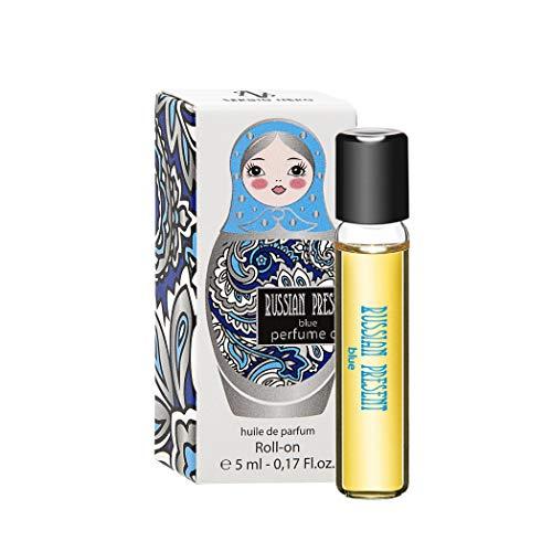 Russian Present BLUE Parfüm Öl für Damen - 5 ml Roll-on Miniatur – Parfüm als Make-Up