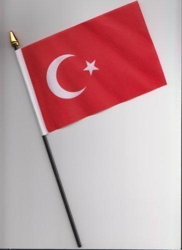 Turquie Drapeau à la main 25 cm