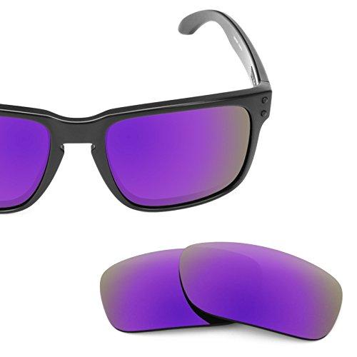 Verres de rechange pour Oakley Holbrook — Plusieurs options violet MirrorShield® - Polarisés