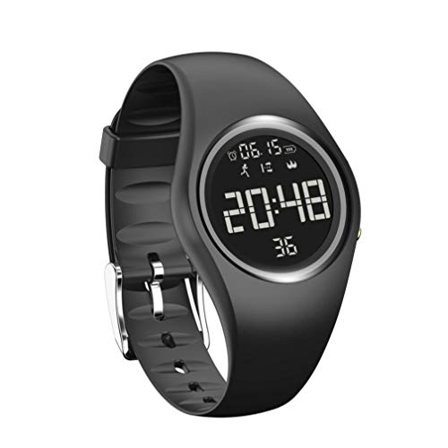 MuSheng SmartWatch, Wasserdichte 3D Pedometer Kalorien Überwachung Fitness Familie Reisen Sport SmartWatch Armband (Schwarz)