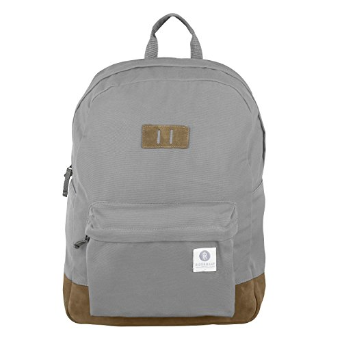 Ridgebake zaino caso MEMMO ASH & BROWN SUEDE Canvas Uomo Donna Bambini Laptop Backpack