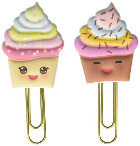 Papier House PRODUCTIONS kawaii Cupcakes Stationery, Bauschige Clips, 3er Pack (Scrapbook Paper Clips)