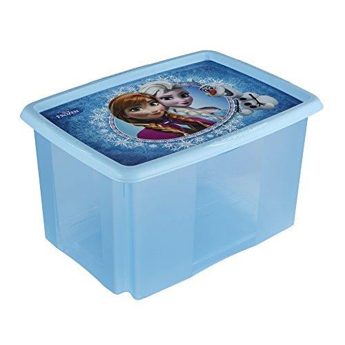 keeeper Frozen Aufbewahrungsbox mit Dreh-/Stapelsystem, 55,5 x 40 x 30 cm, 45 l, Anna, Blau
