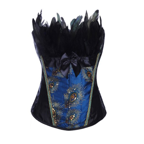 strapless-peacock-splendid-feather-boned-corset-bustier-top-eu40-42-2xl