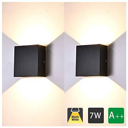 2 Pcs Aplique Pared Interior LED 7W Lámpara de pared Moderna 3000K...