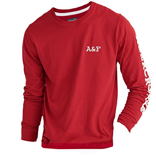 abercrombie-homme-logo-tee-shirt-top-longue-taille-x-large-rouge-625260347