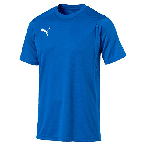 Puma Herren Liga Training Jersey, Electric Blue Lemonade/Puma White, XL (Jersey Training Fußball Puma)