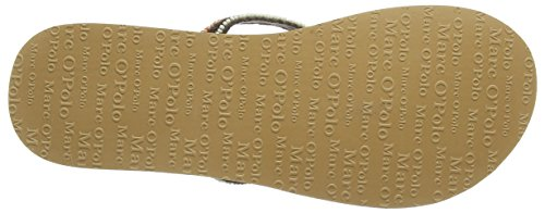 Marc O'Polo Beach Sandal Damen Zehentrenner Grün (khaki 410)