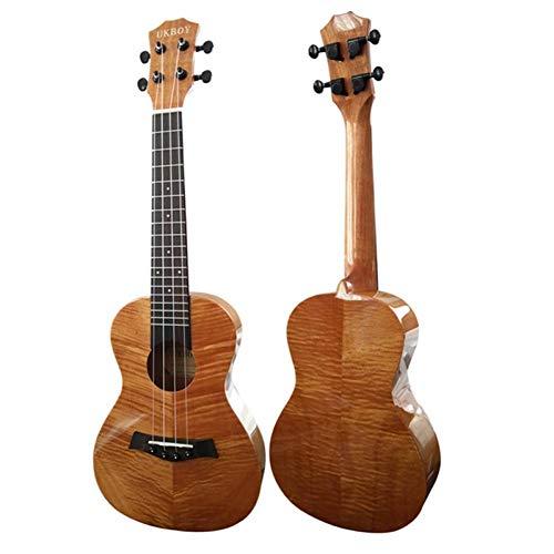 QLJ08 23'Concert Ukulele tiger stripe Mogano lucido Ukelele 4 Aquila Corde in nylon chitarra acustica strumento musicale professionale