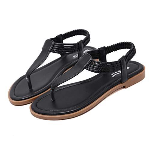 Sandalen Damen Sommerschuhe Frauen Peep Toe Flip Flop Komfortable Gummiband Sandalen Strand Schuhe Zehentrenner Outdoor Freizeitschuhe (Nike Sandalen Für Jungen 9)