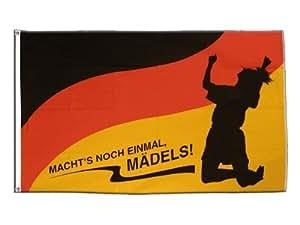 Flagge WM 2011 Deutschland Frauen Fußball - Macht's noch einmal Mädels - 90 x 150 cm
