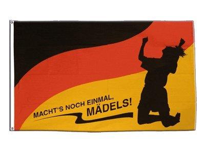 Flagge WM 2019 Deutschland Frauen Fußball - Macht's noch einmal Mädels - 90 x 150 cm