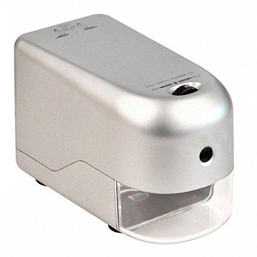 PAVO Elektrische Spitzmaschine für Bleistifte Buntstifte und Ölkreide Ø6 -12mm - Ideal für Schule und Klassenzimmer
