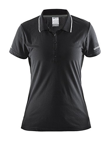 Craft Damen Polo piqué Focus Hood Jacket black-white
