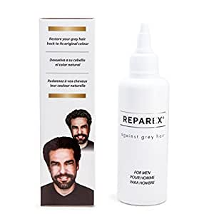Gray Hair Formula for Natural Hair Color Restoration by Reparex for Men   Better than Hair Dye  Anti-Gray Hair Solution, Safe, Easy to Use & Apply   Get