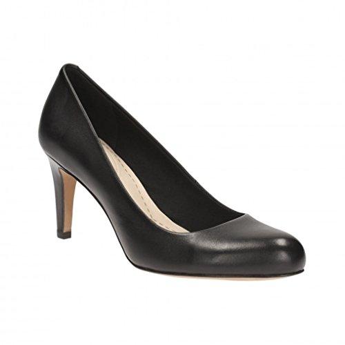 clarks-womens-stiletto-heel-court-shoes-carlita-cove-black-leather-5-uk-e