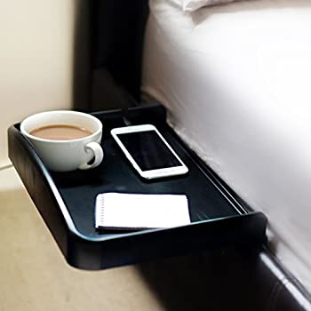 nachttisch zum einhangen anklemmbar mit becherhalter eingelassen kabelfa 1 4 hrung fa r telefon ladekabel erhahter seitenwand buche