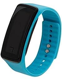 joyliveCY-Moda deportes reloj de pulsera electr¨®nica LED reloj de pulsera unisex cielo Azul de los amantes