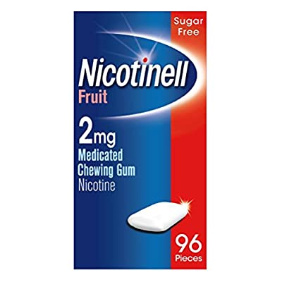 Nicotinell Nicotine Gum, Stop Smoking Aid, 2 mg, Fruit, 96 Pieces from GSK Consumer Healthcare Trading (UK) Ltd