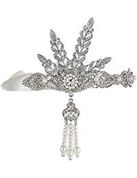 Babeyond® la Gran Gatsby Inspirado Art Deco boda Tiara Celada Diadema