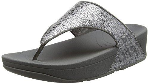 FitFlop Lulu Superglitz, Sandali Donna, colore argento (silver), taglia 38