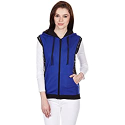 Jealous 21 Women's Hooded Cardigan Hoodies (JU3445_Blue_Large)