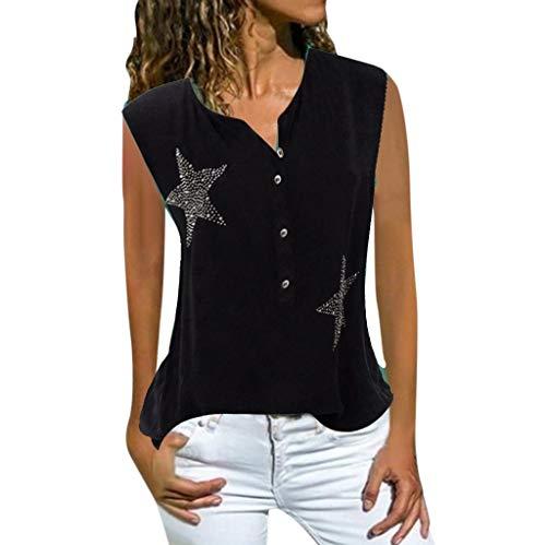 TEFIIR T-Shirt für Frauen, Zurück zu Schulsachen Bedrucktes Top mit Rundhalsausschnitt Fashion Sommer Lässiger, Leichter, ärmelloser Solid Print Freizeit,Freizeit, Dating und Urlaub -