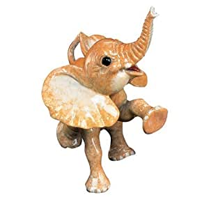 Kitty's Critters 8206 Peanut Elephant Figurine, 5-1/4-Inch Tall, Orange by Kitty's Critters