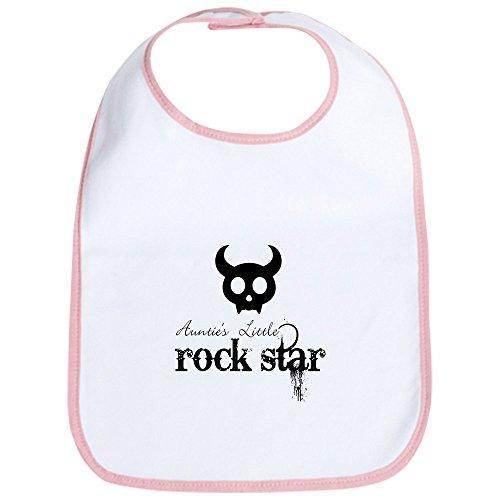 CafePress–Auntie 's Little Rock Star Baby Infant Kleinkind–Cute Tuch Baby Lätzchen Kleinkinder, Lätzchen, Pink