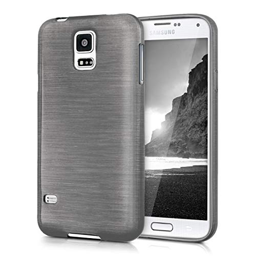 kwmobile Samsung Galaxy S5 / S5 Neo Hülle - Handyhülle für Samsung Galaxy S5 / S5 Neo - Handy Case in Anthrazit Transparent