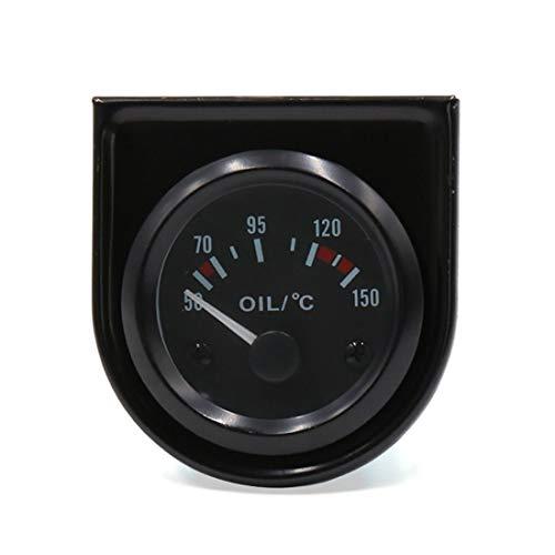 sourcingmap® Auto Universale 12V 52mm dia 50-150C LED temperatura olio motore misuratore di puntato