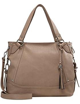 Anna Field Handtasche für Damen aus hochwertigem Leder Imitat - Henkeltasche mit abnehmbarem Deko Anhänger & Schulterriemen...