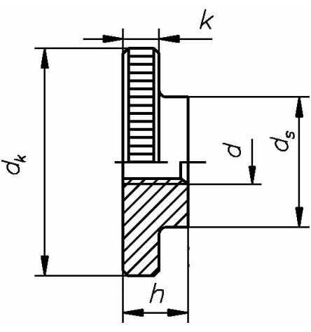 Reidl Rändelmuttern flache Form M 10 DIN 467 Automatenstahl blank 1 Stück