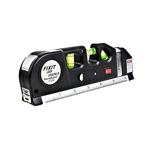 ndard und metrisches Laser-Wasserwaage Lineal, Messen Mehrzweck-Laser Line mit 8 ft + Maßband Lineal, vertikale horizontale Ebene Messen Tape Lineal ()