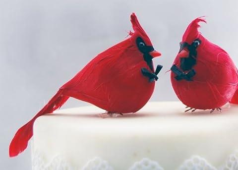 Pays : Cardinal Cake Toppers Décoration pour gâteau de mariage marié et rustique Gay Love