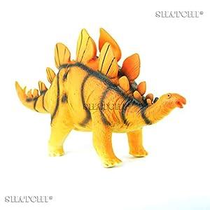Gifts 4 All Occasions Limited SHATCHI-714 7005 - Figura de dinosaurio de goma para niños, modelo de juego táctil con sonido, multicolor
