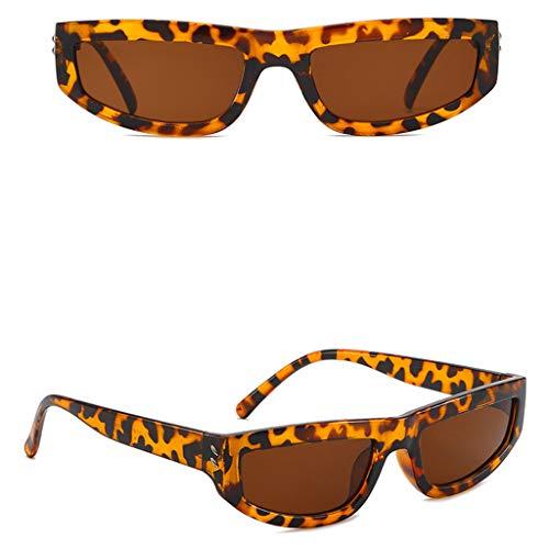 WooCo Quadratische Sonnenbrille für Herren und Damen, Vintage Unisex Sonnenbrille Retro Cool...