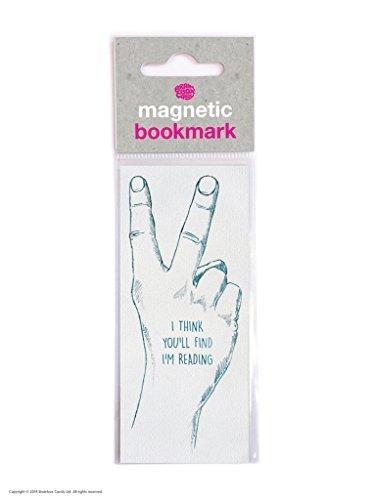 """Witziges magnetisches Lesezeichen mit englischsprachiger Aufschrift """"I Think You'll Find I'm Reading"""""""