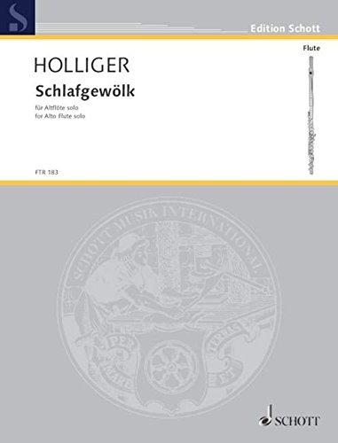 """Schlafgewölk: Nebenfassung des Satzes """"Glocken-Alphabet"""" aus """"Turm-Musik"""". Alt-Flöte (ad libitum mit japanischen Tempelglocken oder Vibraphon). (Edition Schott)"""